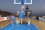 DESCRIZIONE : Taranto Basket On Board sulla portaerei Cavour  Nazionale Italia Under 18 Maschile Svezia <br /> GIOCATORE : Camillo Bianchi<br /> CATEGORIA : pre game schiacciata<br /> SQUADRA : Nazionale Italia Under 18<br /> EVENTO :  Basket On Board sulla portaerei Cavour<br /> GARA : Nazionale Italia Under 18 Maschile Svezia <br /> DATA : 12/07/2012 <br />  SPORT : Pallacanestro<br />  AUTORE : Agenzia Ciamillo-Castoria/GiulioCiamillo<br />  Galleria : FIP Nazionali 2012<br />  Fotonotizia : Taranto Basket On Board sulla portaerei Cavour  Nazionale Italia Under 18 Maschile Svezia <br />  Predefinita :