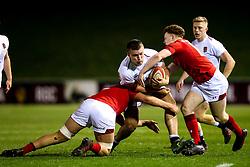 Olly Adkins of England U20 is tackled - Mandatory by-line: Robbie Stephenson/JMP - 22/02/2019 - RUGBY - Zip World Stadium - Colwyn Bay, Wales - Wales U20 v England U20 - Under-20 Six Nations