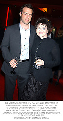 DR MIRIAM STOPPARD and her son WILL STOPPARD at a reception in London on 18th March 2003.	PIC 131