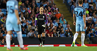 Football - 2016 / 2017 Champions League - Qualifying Play-Off, Second Leg: Manchester City [5] vs. Steaua Bucharest [0]<br /> <br /> Joe Hart of Manchester City shouts instructions during the match, at the Ethihad Stadium.<br /> <br /> COLORSPORT/LYNNE CAMERON