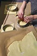 Making Savoury pie quiche