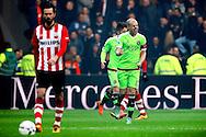 20-03-2016 VOETBAL:PSV-AJAX:EINDHOVEN<br /> Davy Klaassen van Ajax viert het snelle doelpunt<br /> <br /> Foto: Geert van Erven