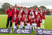 Winning team Huntley during the National Primary School Cup Final, Bert Sutcliffe Oval, Lincoln, New Zealand, 16th November 2018.Copyright photo: John Davidson / www.photosport.nz