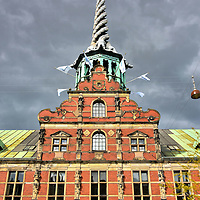Dragon Spire on B&oslash;rsen in Copenhagen, Denmark <br />