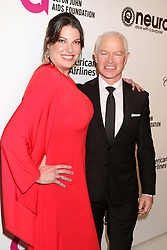 February 24, 2019 - West Hollywood, CA, USA - LOS ANGELES - FEB 24:  Ruve McDonough, Neal McDonough at the Elton John Oscar Viewing Party on the West Hollywood Park on February 24, 2019 in West Hollywood, CA (Credit Image: © Kay Blake/ZUMA Wire)