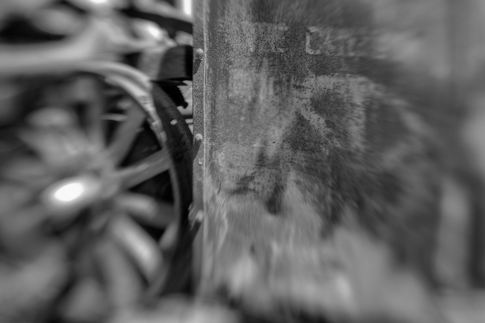 Rust And The Iron Wheel - Motor Transport Museum - Campo, CA - Lensbaby - Black & White