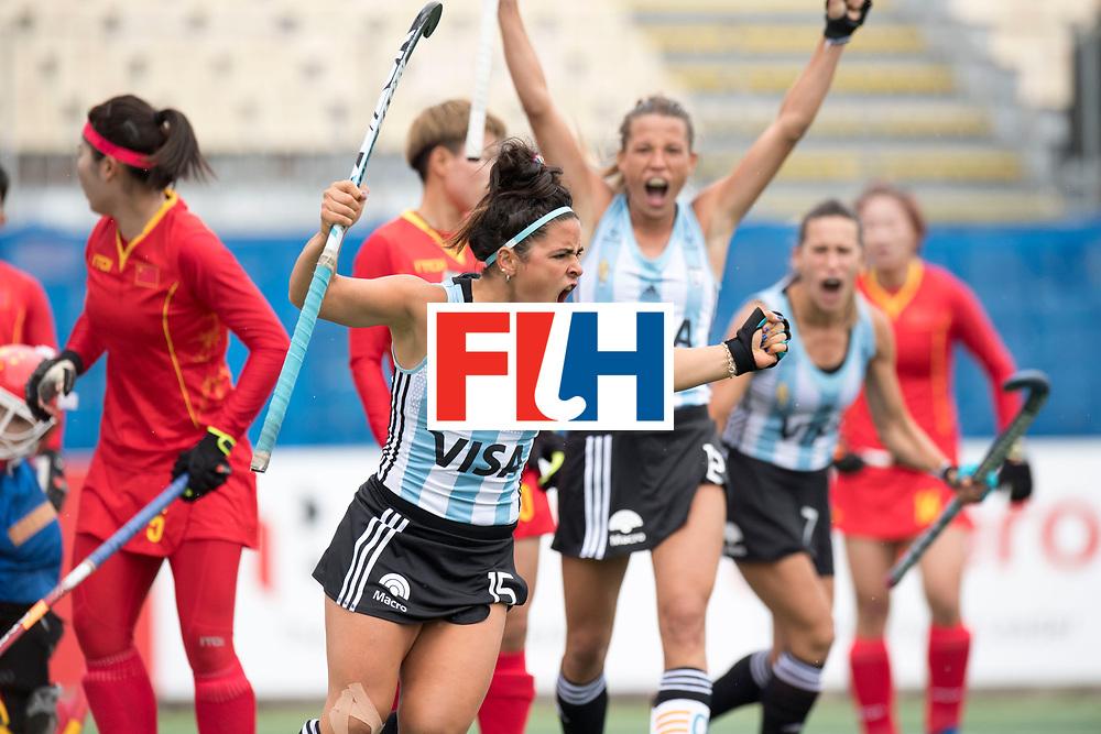 AUCKLAND - Sentinel Hockey World League final women<br /> Match id 10294<br /> 04 Argentina v China.<br /> Foto: goal celebration Maria Granatto.<br /> WORLDSPORTPICS COPYRIGHT FRANK UIJLENBROEK