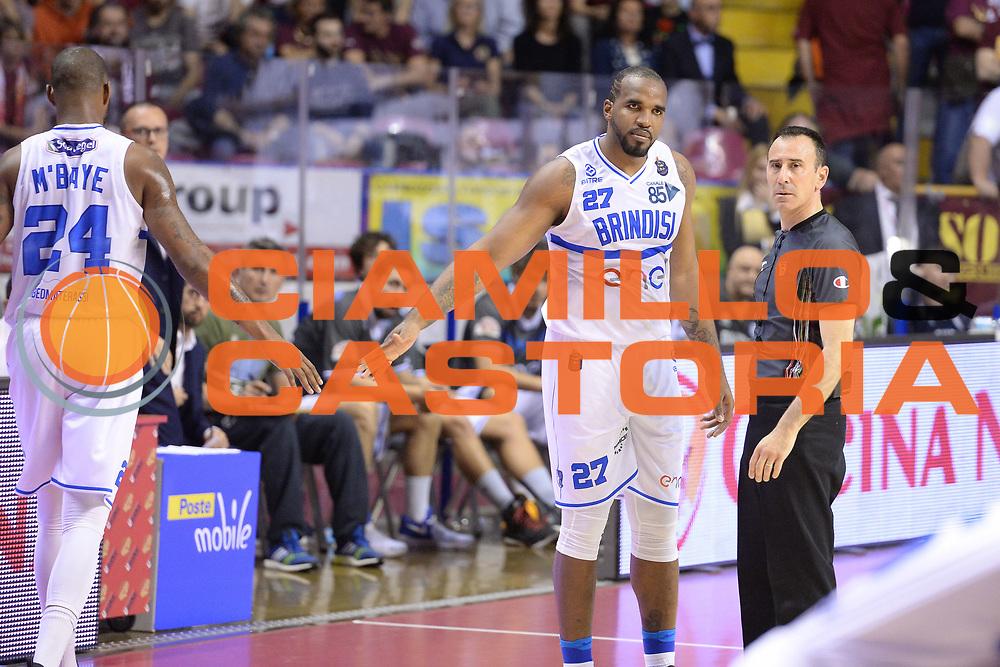 Samardo Samuels<br /> Umana Reyer Venezia - Enel Brindisi <br /> Lega Basket Serie A 2016/2017<br /> Venezia 07/05/2017<br /> Foto Ciamillo