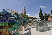 57th Art Biennale in Venice - Viva Arte Viva.<br /> Isola di San Giorgio Maggiore, Le Stanze del Vetro.<br /> Pae White, Qwalala,  work in progress.