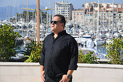 """Juan Pablo Escobar (son of the most powerful drug trafficker of the 20th century and the most famous inthe word) for the film """"Escobar Uncovered"""" Beyond Distribution at the MIPCOM (International Market of Communications Programmes) (Photo by Lionel Urman/Sipa USA)"""