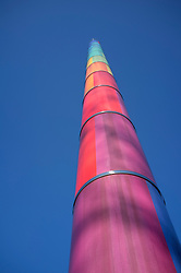 coloured column at Bauhaus Archiv in Berlin Germany