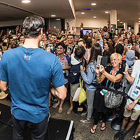 Roger Federer of Switzerland at the employee after party after the men's final on day fourteen of the 2017 Australian Open at Melbourne Park on January 29, 2017 in Melbourne, Australia.<br /> (Ben Solomon/Tennis Australia)