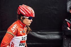 Chantal Hoffmann back stage at the sign in in Tielt - Dwars door Vlaanderen 2016, a 103km road race from Tielt to Waregem, on March 23rd, 2016 in Flanders, Netherlands.