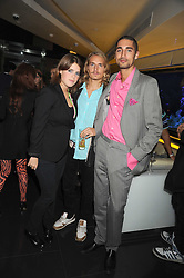 Left to right, PRINCESS EUGENIE OF YORK, OLIVER PROUDLOCK and HUGO TAYLOR at Tallulah Rufus-Isaac's 21st birthday party held at The Kingley Club, 4 Upper St Martin's Lane, London on 24th September 2008.