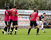 Matt Lockwood free kick - Dundee v Southend United - East Fife Tournament at New Bayview<br /> <br /> &copy; David Young<br /> <br /> <br /> http://www.davidyoungphoto.co.uk