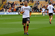 Wolverhampton Wanderers midfielder Romain Saiss (27) warms up during the EFL Sky Bet Championship match between Wolverhampton Wanderers and Sheffield Wednesday at Molineux, Wolverhampton, England on 29 April 2018. Picture by Alan Franklin.