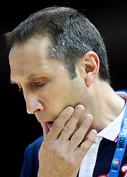 David Blatt, head coach of Russia during basketball match between National teams of Russia and Ukraine in Group D of Preliminary Round of Eurobasket Lithuania 2011, on August 31, 2011, in Arena Svyturio, Klaipeda, Lithuania. (Photo by Vid Ponikvar / Sportida)