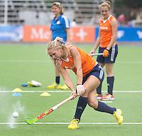 TUCUMAN - Kitty van Male. Het Nederlands vrouwen hockeyteam trainde vrijdag voor de Hockey World League finaleronde, die zateredag begint. Nederland speelt zaterdag tegen Duitsland.  KNHB KOEN SUYK
