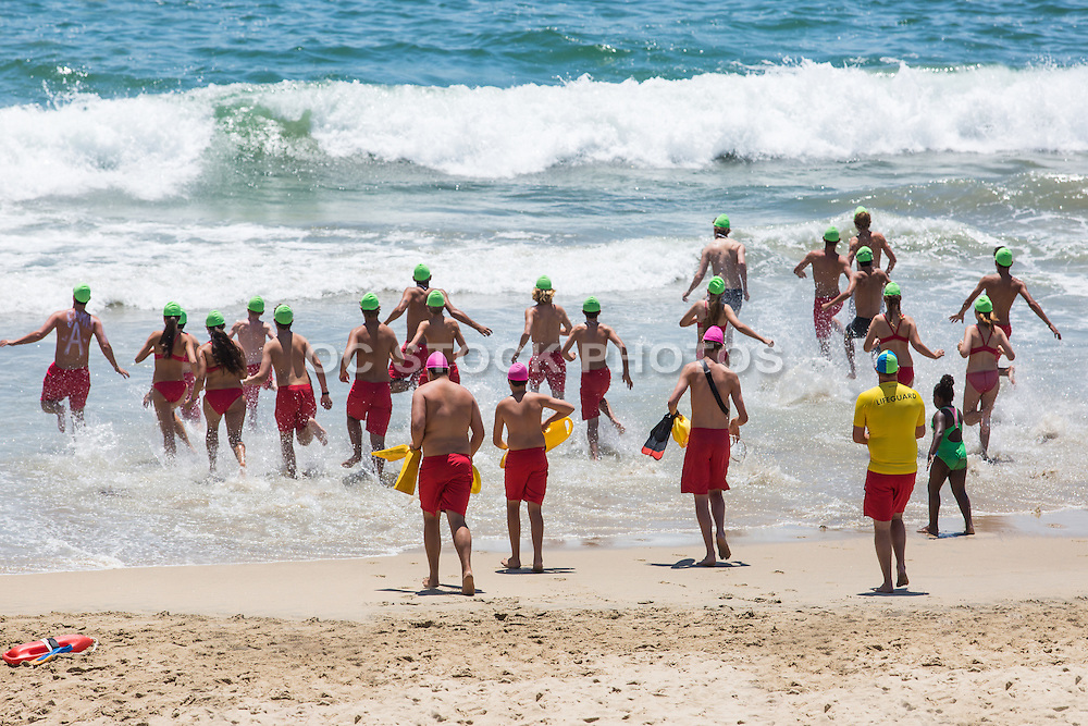 Girls and Boys in Lifeguard Training in Huntington Beach