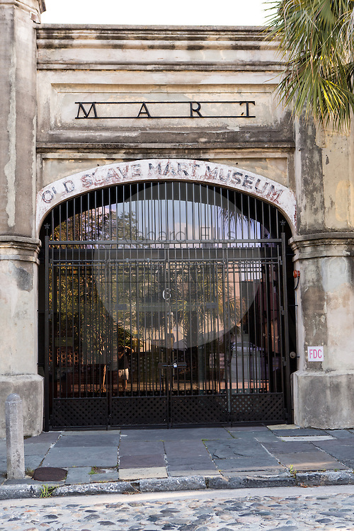 Old Slave Mart Museum on Chalmers Street in Charleston, SC.