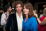 Stephen Mangan; Louise Delamere. The afterparty following the press night of 'Speaking In Tongues', at the Jewel Bar, Maiden Lane. Covent Garden. London. September 28, 2009,