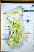 Map of the Island of Herm, Channel Islands, Great Britain