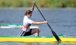 LYDIA WEBER (GERMANY) COMPETES IN WOMEN'S C1 200 METERS QUALIFICATION RACE DURING 2010 ICF KAYAK SPRINT WORLD CHAMPIONSHIPS ON MALTA LAKE IN POZNAN, POLAND...POLAND , POZNAN , AUGUST 21, 2010..( PHOTO BY ADAM NURKIEWICZ / MEDIASPORT ).