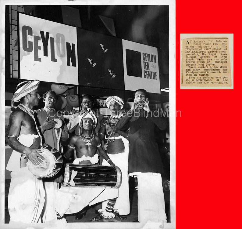 1965. Sydney's 3rd International Trade Fair, one of the highlights of 'Pageant of Asia' was the celebrated group of Kandyan dancers from Ceylon. Performance at the Ceylon Tea Centre. November 1965. from Daily Mirror collection Dept. of Archives.