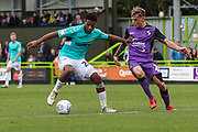 Forest Green Rovers Reuben Reid(26) on the ball during the EFL Sky Bet League 2 match between Forest Green Rovers and Port Vale at the New Lawn, Forest Green, United Kingdom on 8 September 2018.