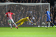 Anas Sharbini of Croatia (left) scores the opening goal against Argentina during the International Friendly match at the Boleyn Ground, London<br /> Picture by David Horn/Focus Images Ltd +44 7545 970036<br /> 12/11/2014