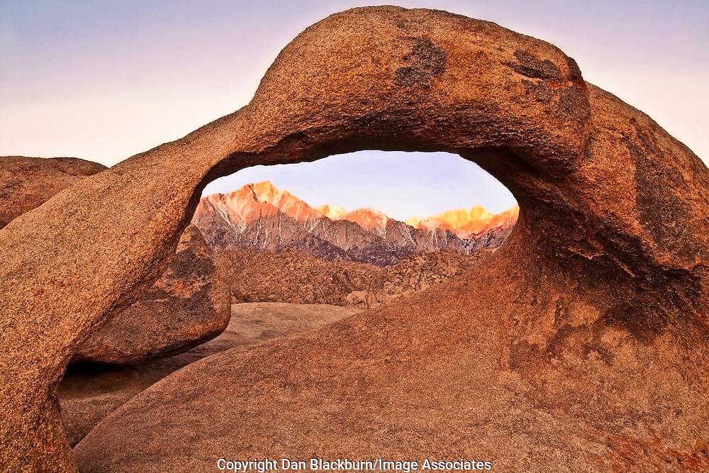 Intense Sierra Sunrise at Sunrise Arch, Eastern Sierra