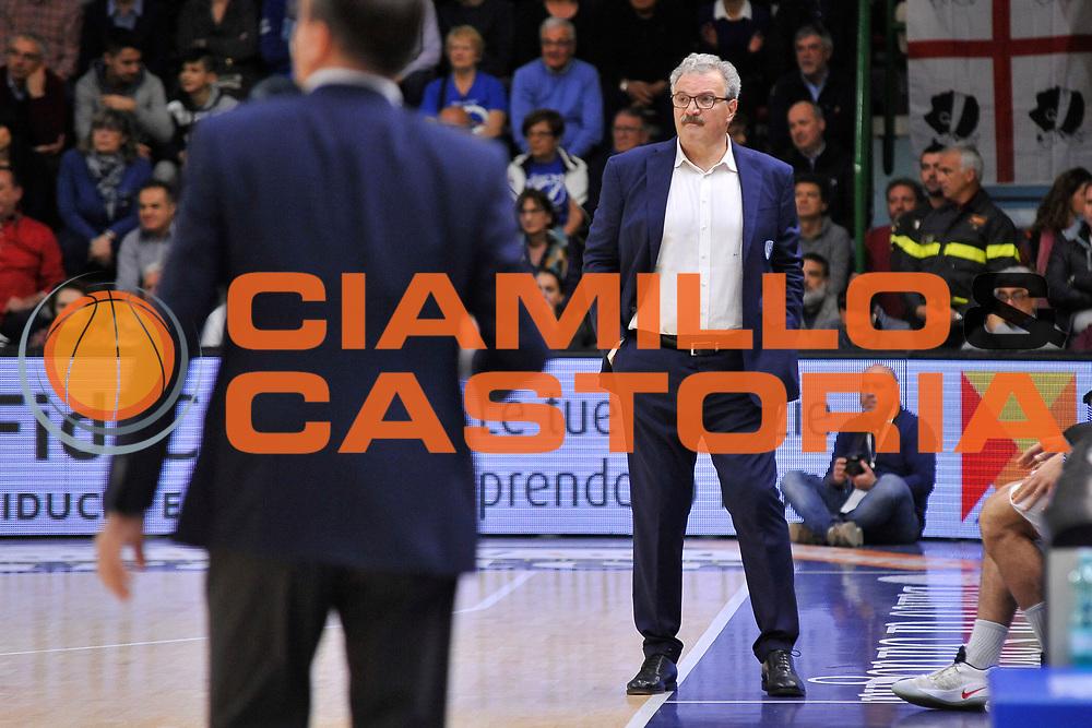 Romeo Sacchetti<br /> Banco di Sardegna Dinamo Sassari - Enel New Basket Brindisi<br /> LegaBasket Serie A LBA Poste Mobile 2016/2017<br /> Sassari 02/04/2017<br /> Foto Ciamillo-Castoria