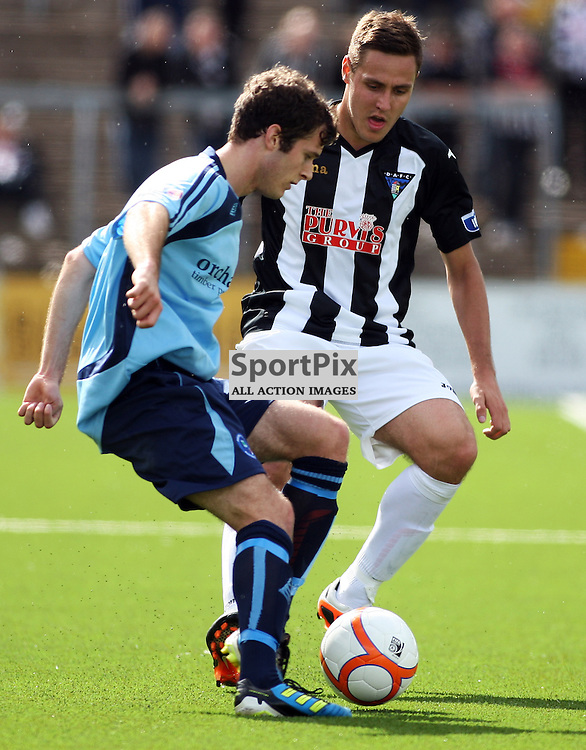 Forfar Athletic v Dunfermline Athletic Ramsden Cup Station Park 28 July 2012..Stephen Husband in action..(c) Craig Brown | StockPix.eu