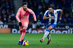 December 8, 2018 - Barcelona, BARCELONA, Spain - 03 Gerard Pique of FC Barcelona during the Spanish championship La Liga football match between RCD Espanyol v FC Barcelona on December 08, 2018 at RCD Stadium stadium in Barcelona, Spain. (Credit Image: © AFP7 via ZUMA Wire)