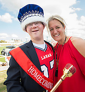 Zachary Smith is crowned Lamar High School Homecoming King during a football game between Bellaire High School and Lamar High School at Delmar Stadium, October 21, 2016.