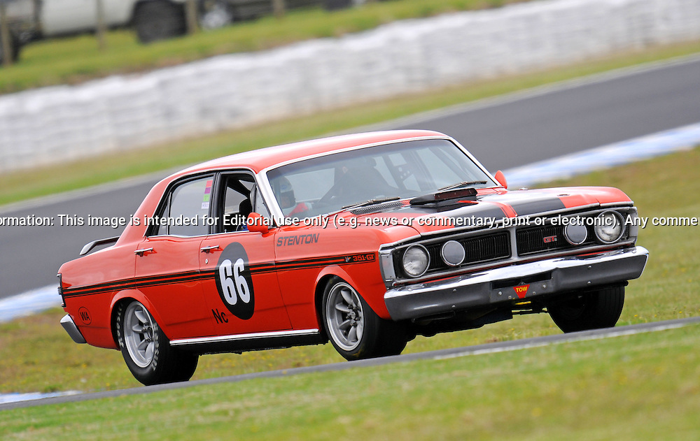 Geoffrey Stenton - Ford Falcon GT HO.Historic Motorsport Racing - Phillip Island Classic.18th March 2011.Phillip Island Racetrack, Phillip Island, Victoria.(C) Joel Strickland Photographics.Use information: This image is intended for Editorial use only (e.g. news or commentary, print or electronic). Any commercial or promotional use requires additional clearance.