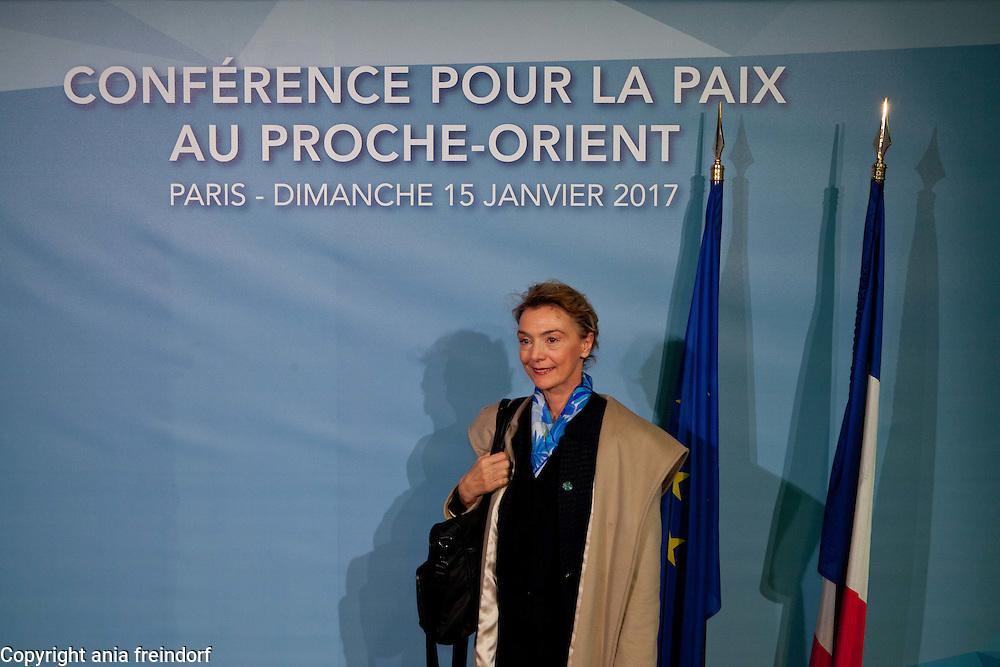 Middle East Peace Conference, Paris, France. International summit. 7O countries have participated in the summit. Croatia, Marija Pejcinovic Buric, European Affairs secretary