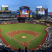 A panoramic view of Citi Field, Queens, the home of the New York Mets during the New York Mets V Arizona Diamondbacks Baseball game at Citi Field, Queens, New York. 5th May 2012. Photo Tim Clayton. Note to Editors. This image is a composite of two images taken a split second apart and merged in editing.
