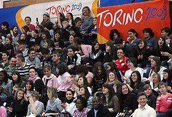 Fans at the Opening ceremony at the 1st day of  European Athletics Indoor Championships Torino 2009 (6th - 8th March), at Oval Lingotto Stadium,  Torino, Italy, on March 6, 2009. (Photo by Vid Ponikvar / Sportida)