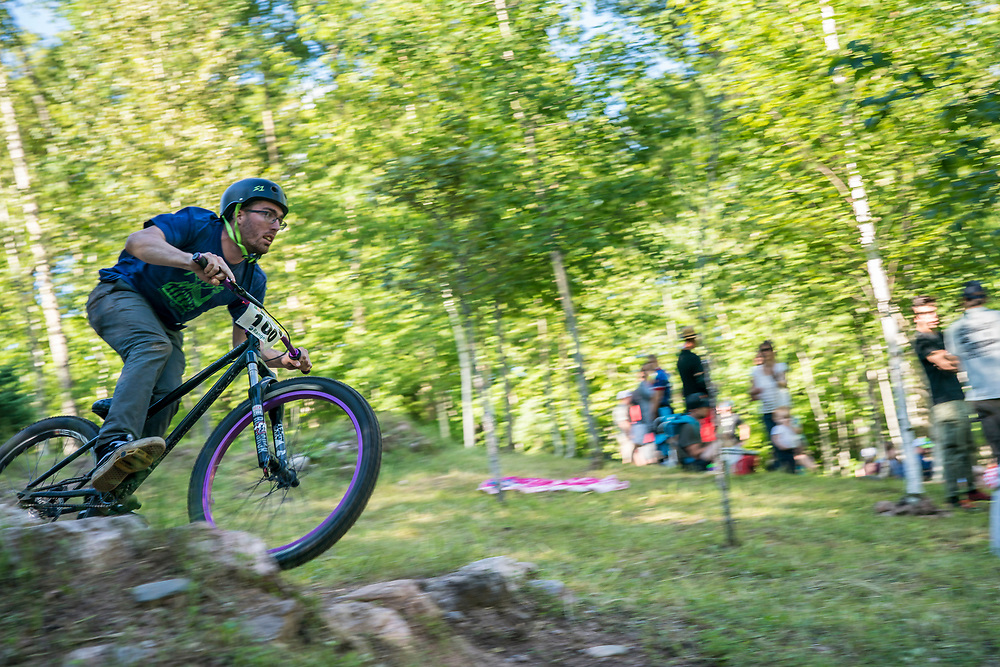 Scene from the Dual Slalom race at the Marquette Trails Fest in Marquette, Michigan.