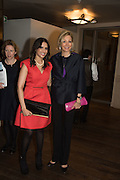 JAKHYA RAHMAN and NADJA SWAROVSKI at the Whitechapel Gallery Art Icon 2015 Gala dinner supported by the Swarovski Foundation. The Banking Hall, Cornhill, London. 19 March 2015