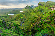 United Kingdon; Scotland; Isle of Skye; Quiraing escarpment;
