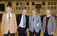 From left, coaches Dick Ledyard (baseball), Bob Ayton (track and cross country), Ralph Wetzel (wrestling) and Dennis Steinly (football) pose for a photo during a Salute to Hatboro-Horsham Coaching Legends Friday January 15, 2016 at Hatboro-Horsham High School in Hosham, Pennsylvania. (Photo by William Thomas Cain)
