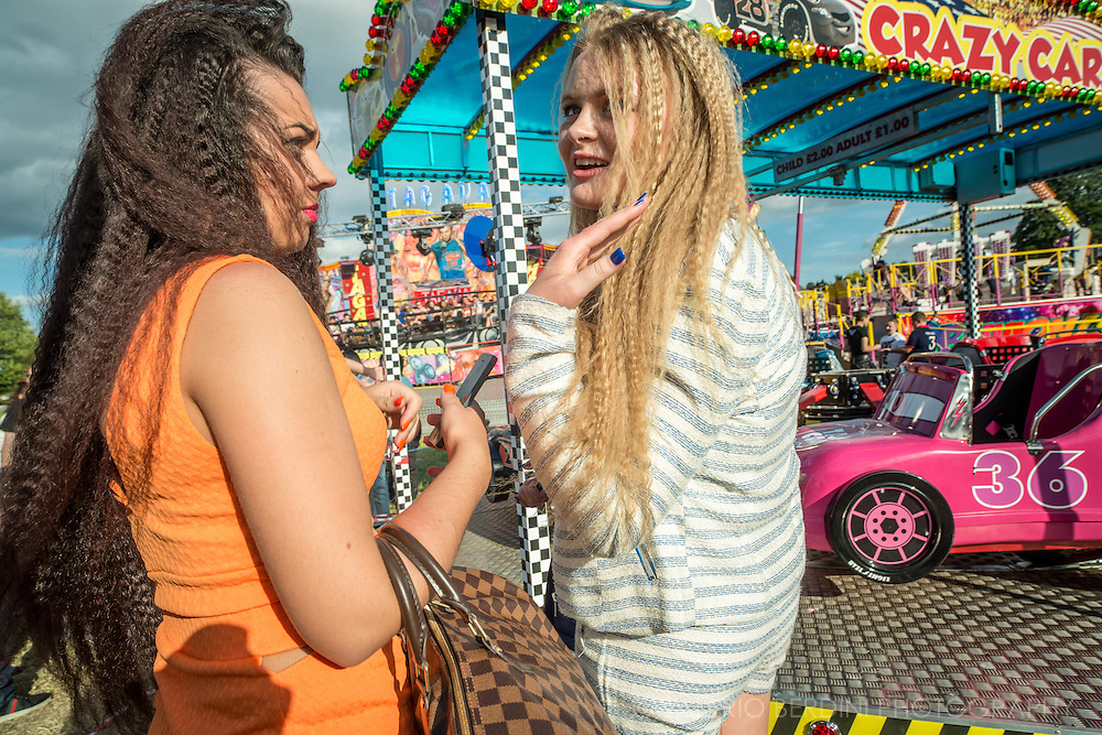 """Crimped hair"" is the new black. Most of the girls have a journey to the hair and the beauty saloon the Saturday of the fair."