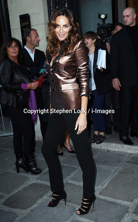 Tasha de Vasconcelos arriving at the Jean Paul Gaultier show at Paris Fashion Week for Spring/Summer 2013, Saturday, 29th September 2012. Photo by: Stephen Lock / i-Images