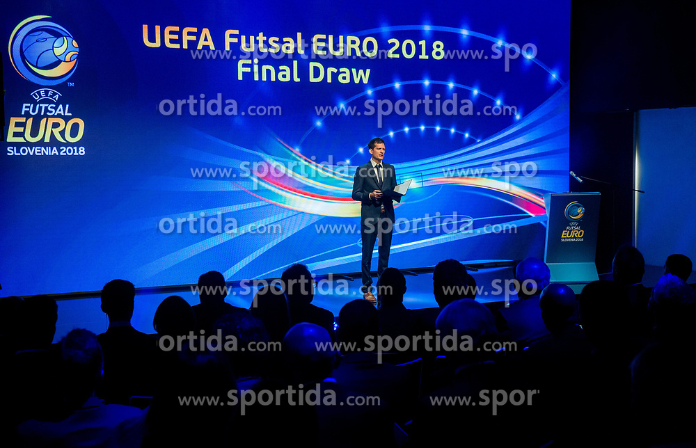 The UEFA Futsal EURO 2018 finals draw, on September 29, 2017 in Ljubljanski grad, Ljubljana, Slovenia. Photo by Vid Ponikvar / Sportida
