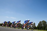 Team Groupama - FDJ during the Tour de France 2018, Stage 3, Team Time Trial, Cholet-Cholet (35 km) on July 9th, 2018 - Photo Luca Bettini/ BettiniPhoto / ProSportsImages / DPPI