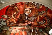 MEXICO, GUADALAJARA, MURALS Father Hidalgo by Clemente Orozco