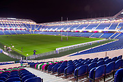 General view inside the BT Murrayfield Stadium, Edinburgh, Scotland before the Guinness Pro 14 2018_19 rugby match between Edinburgh Rugby and Isuzu Southern Kings on 5 January 2019.
