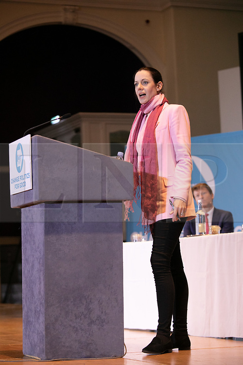 © Licensed to London News Pictures. 20/04/2019. Nottingham, UK. Brexit Party rally. ANNUNZIATA REES-MOGG at the Brexit Party rally held at the Albert Hall Conference Centre, Nottingham. Photo credit: Dave Warren/LNP